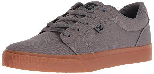 DC Men's Anvil Tx Skate Shoe, BlackGrey, 10.5 Medium US
