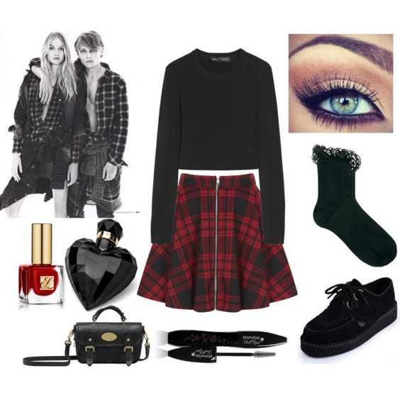 """SKATER GIRL DAY LOOK"" by krisevilcupcake on Polyvore. Love it but change the shoes"