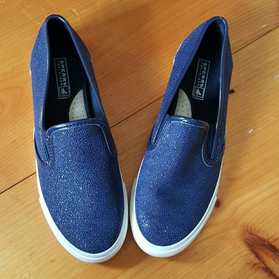 Speedy Slide-Ons Cute like new! Sperry Top-Sider Shoes Flats & Loafers