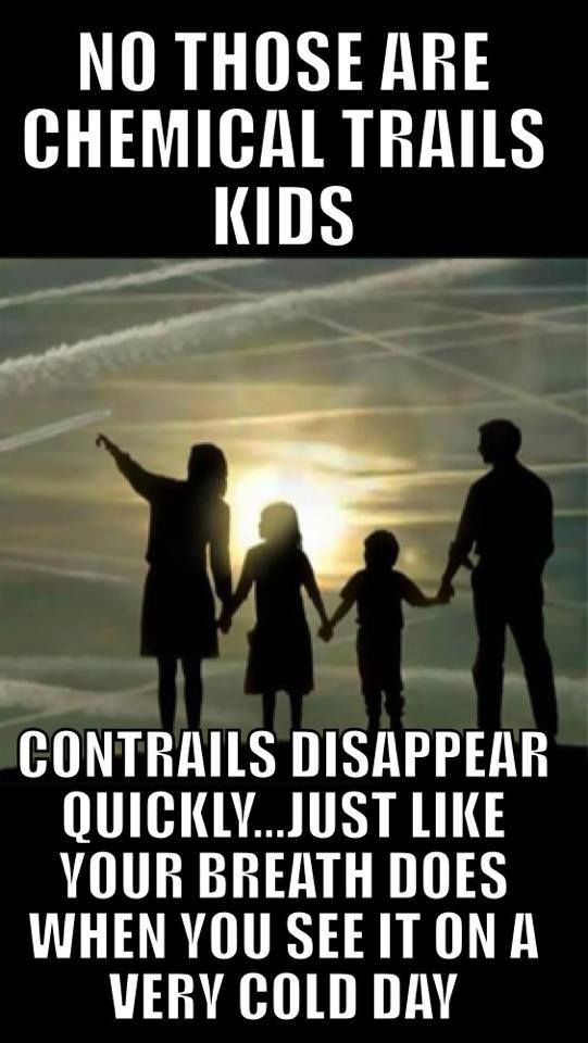 chemtrails kids, not contrails... I was looking at some today and I saw a drone fly right by: