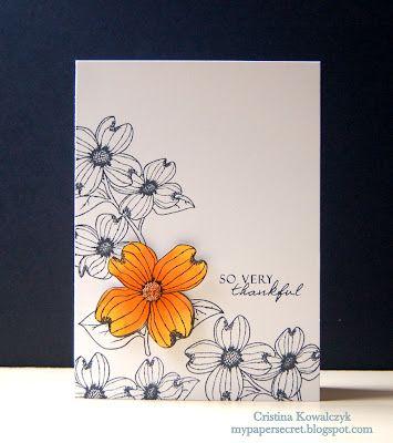 ;): Flower Card, Card Design, Simple Cards, Sympathy Card, Card Making, Cards Cards, Card Ideas