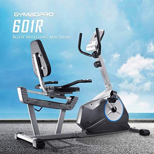 Gymbopro Magnetic Recumbent Exercise Bike Cycle Machine Stationary