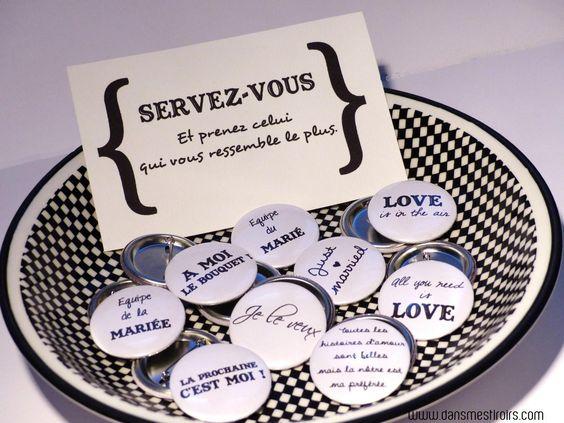 badges personnaliss pour mariage wwwdansmestiroirscom - Appareil Photo Jetable Mariage Personnalis