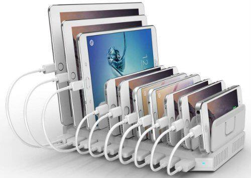 Unitek 10 Port Usb Charger Charging Station For Multiple Device Best Charging Station Charging Station Ipad Charging Station