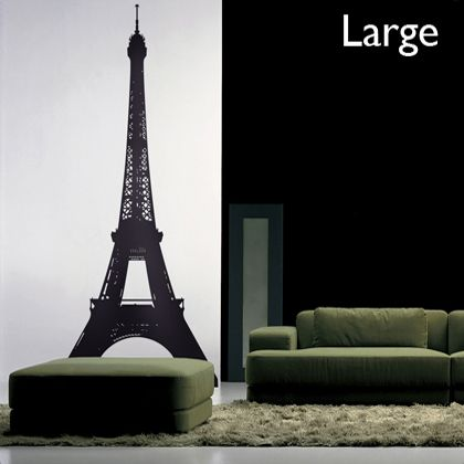Bring the most iconic silhouette from the City of Paris into your house with the Tour Eiffel wall stickers
