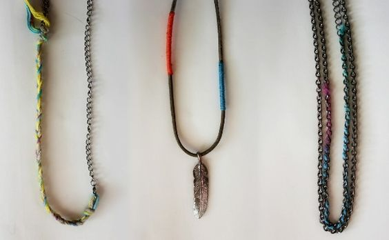 Wrap your chains with bright thread