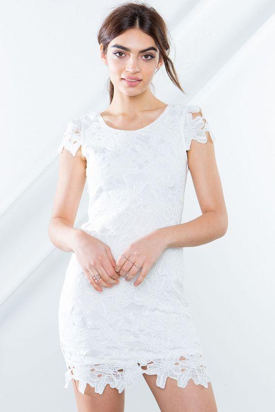Everly Crochet Cap Sleeve Dress