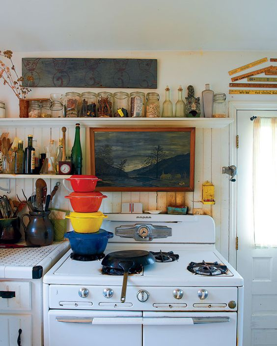 stove painting shelves