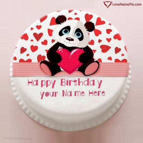 Excellent Cute Love Birthday Cake For Girlfriend With Name Photo Happy Personalised Birthday Cards Akebfashionlily Jamesorg