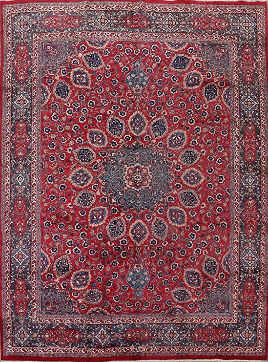 Vintage Oriental Floral Area Rug Red Wool Hand Knotted Traditional Carpet 10x12 9 9 X 12 5 In 2020 Floral Area Rugs Area Rugs Oriental Area Rugs