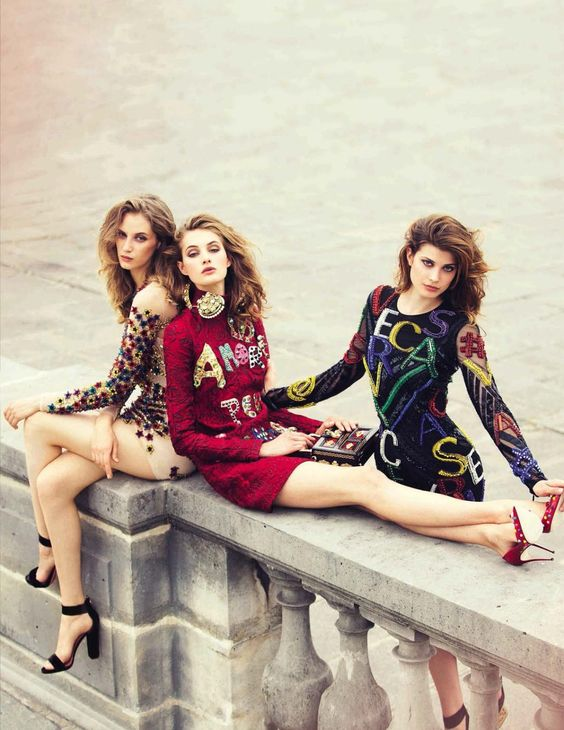 Mis Queridas Fashionistas: Vogue Spain September 2015: Larissa Hofmann, Melina Gesto and Sanne Vloet by David Bellemere: