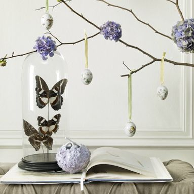 Easter eggs and Hydrangea vase: