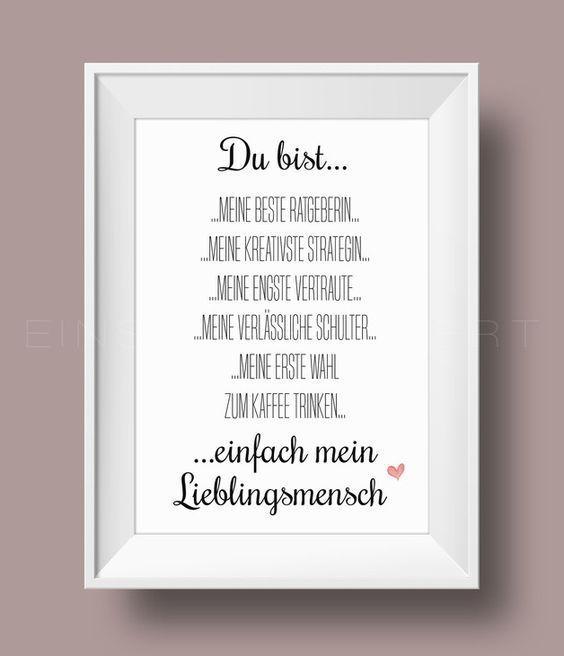 Digitaldruck Beste Freundin Kunstdruck Von Einsaushundert Via Dawanda C Diy Gifts For Girlfriend Diy Gifts For Mom Diy Gifts For Friends