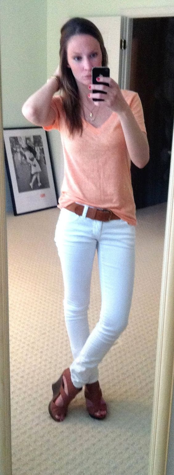 Like the relaxed v neck with the wedges.