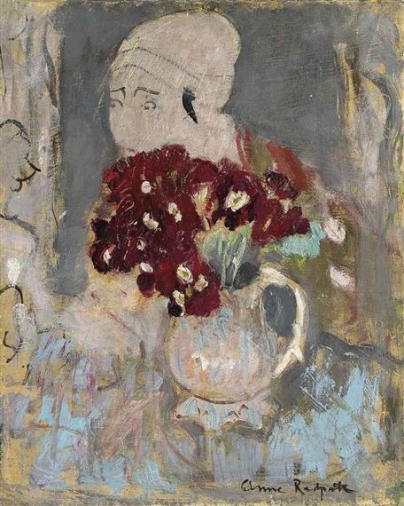 Anne Redpath, Primulas and Japanese print