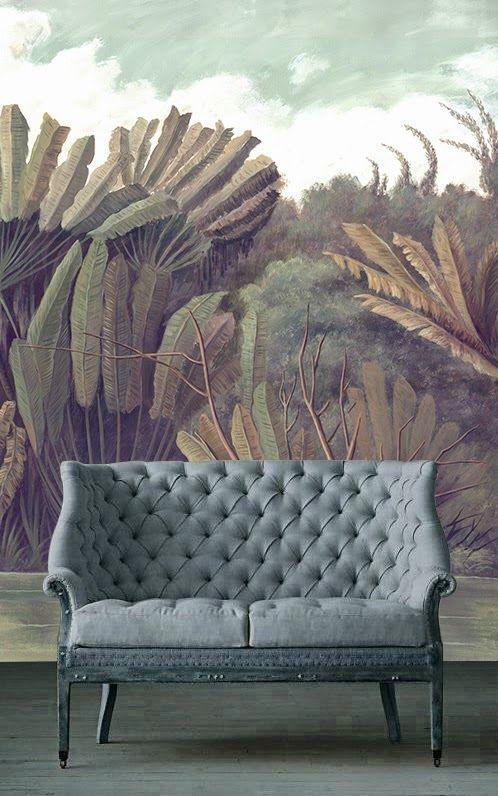 Ananbô: Gorgeous panoramic wallpaper from an original painting #nature #wallpaper #decor