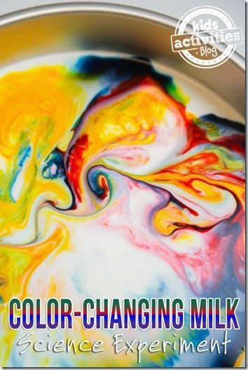 Color Changing Milk Experiment - Kids will be amazed with this amazing Science Experiment for kids from Toddler, Preschool, Kindergarten, and elementary school.
