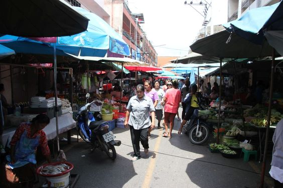 Market in Surat Thani, Thailand