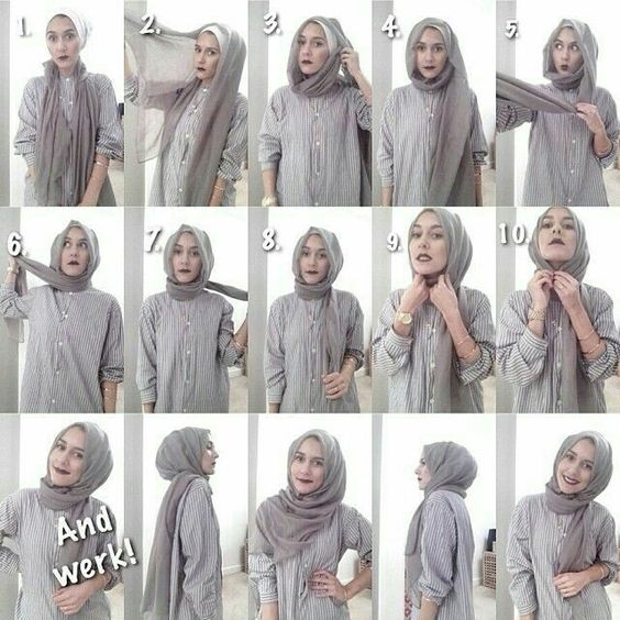 Tutorial Hijab Terbaru 2017 Simple Tutorial Lif Co Id