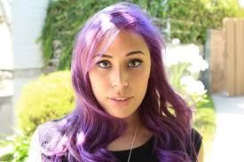 one of my fav. youtubers has purple hair and i love it