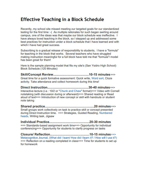 Breaking down block time Practical English Pinterest Actividades - minutes taking format