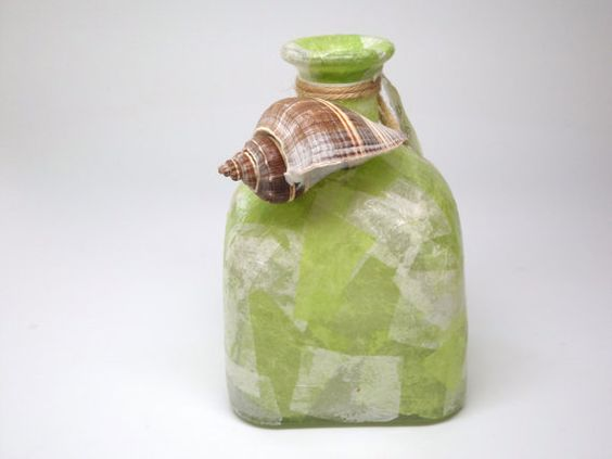 Upcycled Patron Tequila Home Decor Vase In By Thelastcallglass Patron Pinterest