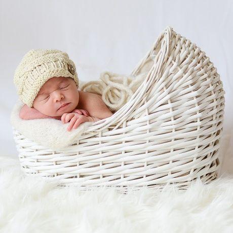 Cuna mimbre blanca atrezzo para fotos beb cuna de - Cunas para bebes recien nacidos ...
