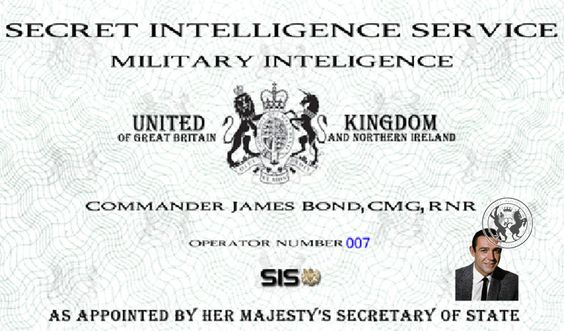 Mi6 James Bond Card James Bond Party Bond James Bond
