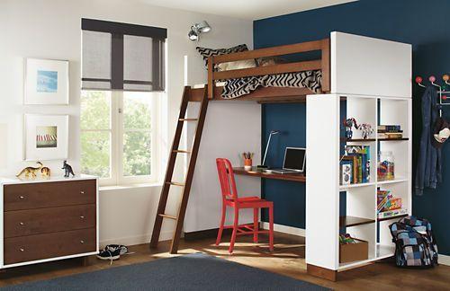 Moda Loft Beds With Desk Bookcase Options Bunks Lofts Kids Room Board Bedroomfurniturewithdesk Rumah Mebel Rumah Mungil