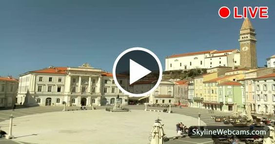 Lovely view from Tartini Square in #Piran, #Slovenia! Enjoy it #live! #Travel #Webcam