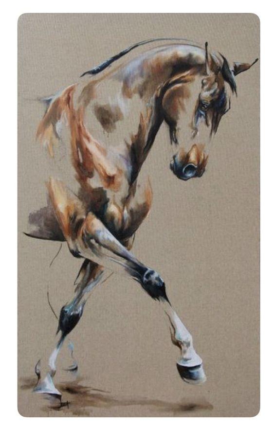 Pin By Nadia El Asri On Pastel Horse Painting Equestrian Art Animal Art