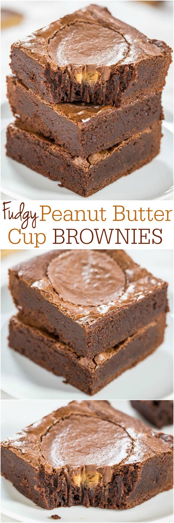 Peanut butter cup brownies, Cup brownie and Peanut butter cups on ...
