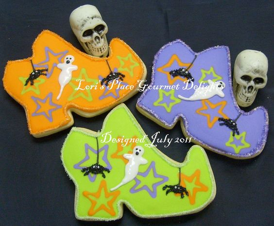Witches Shoe Cookies~                by lorisplace, $25.99, green, Orange, purple, ghost