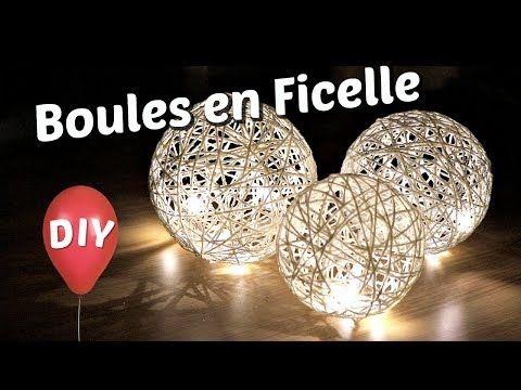 Comment Fabriquer Des Boules Lumineuses Decoratives Tuto De Lampe En Ficelle Avec Un Ballon Boule Lumineuse Comment Fabriquer Un Ficelle