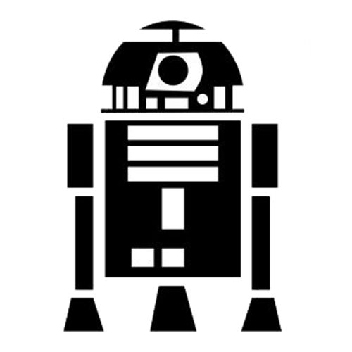 R2d2 Black And White Star Wars R2D2 Laptop ...