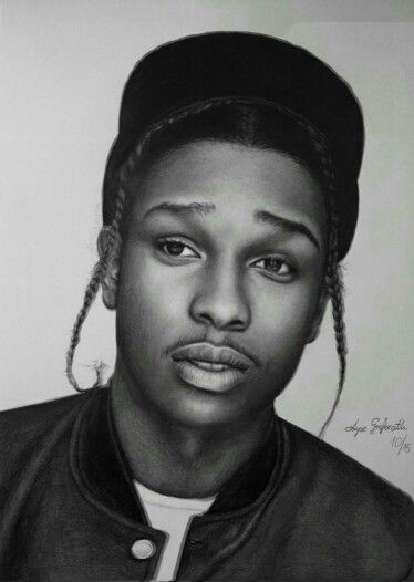 Asap rocky drawing by me drawings pinterest asap for Asap rocky tattoos