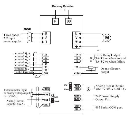 inverter standard wiring diagram  t power diagram control