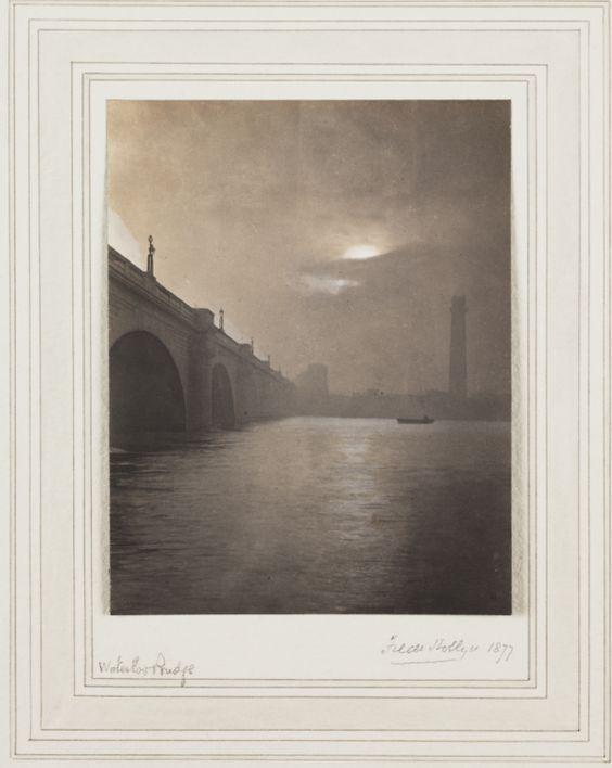 'Waterloo Bridge', by Frederick Hollyer, in 1877.