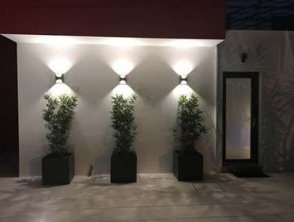 Wohnideen Schlafzimmer Hausdekoration Dekoration Wohnzimmer Wohnung Hausdekor Einric Exterior Wall Design Garden Wall Designs Landscape Lighting Design