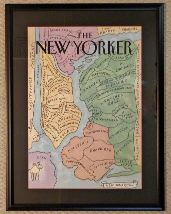 The New Yorker published this awhile back and I couldn't help but frame it for my house!