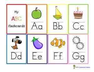 Alphabet Flash Cards Printable Alphabet And Alphabet On