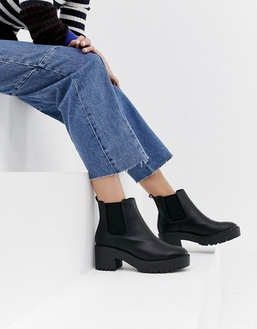 New Look New Look Chunky Chelsea Boot In Black Chelsea Boots Women Chelsea Boots Black Heel Boots