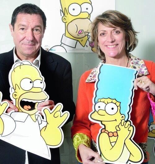 Les voix françaises de Homer et Marge Simpson.