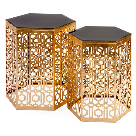 IMAX Nikki Chu Lancaster Mirror End Tables - Set of 2 | from hayneedle.com