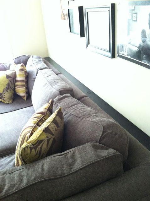 shelf behind the sofa