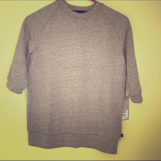 Joan smalls true religion sweatshirt Heather gray raglan sweatshirt. Joan small for true religion...51% polyester, 44% cotton, 5% rayon.  I'm in love with this but convinced myself that a small will not work for me, willing to trade EXACT same shirt for larger size!!! True Religion Tops Sweatshirts & Hoodies