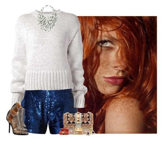 """sequin shorts"" by niteowlgirl ❤ liked on Polyvore"
