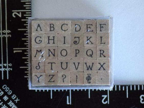 Capital Letters Alphabet Stamp Set Studio G 2011 Unopened 30 Stamps Hampton Art  #HamptonArt #Background