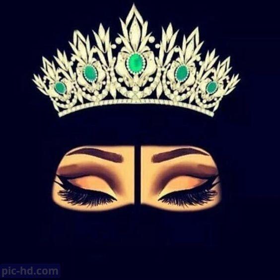 رمزيات بنات محجبات اجمل صور رمزيات بنات كيوت رمزيات كشخه للبنات Black Love Art Hijab Cartoon Crown Illustration