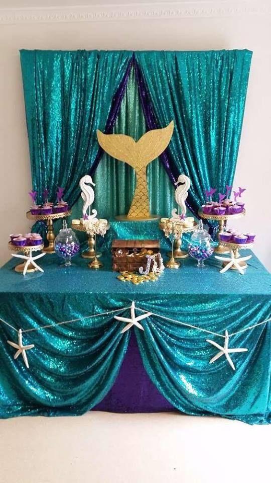Bellísimas Decoraciones Para Fiesta Temática De Sirenas En